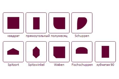 Доступные формы кровельного сланца Cupa 2